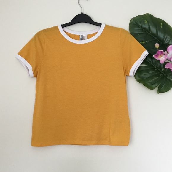 H&M   Cute Mustard Yellow T-shirt